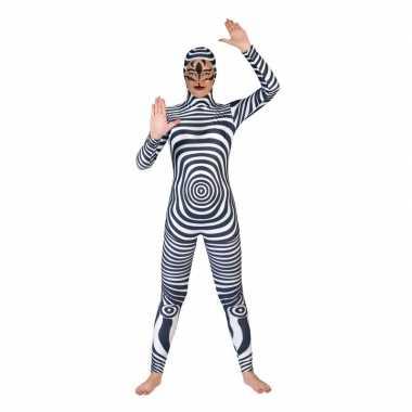 Zebra catsuit/kostuum voor volwassenen