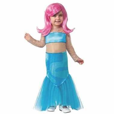 Zeemeermin jurk met pruik voor meisjes