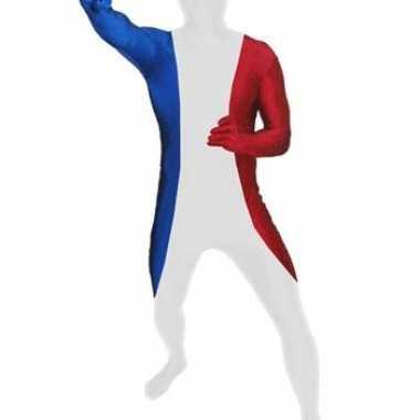 Zentai kostuum franse vlag
