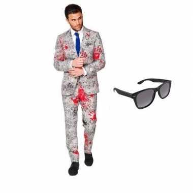 Zombie heren kostuum maat 48 (m) met gratis zonnebril