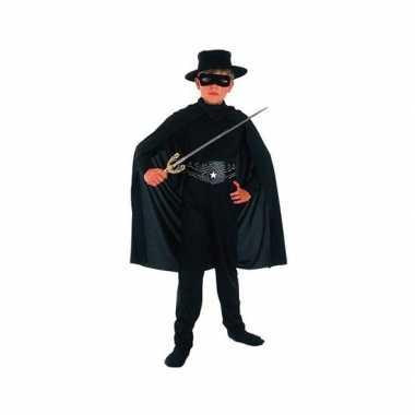 Zwarte held kostuumken kostuum voor kinderen