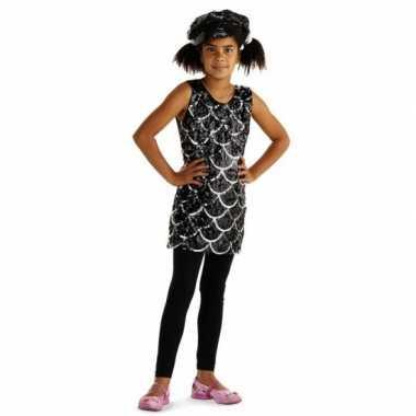 Zwarte jurkjes met pailletten voor kids