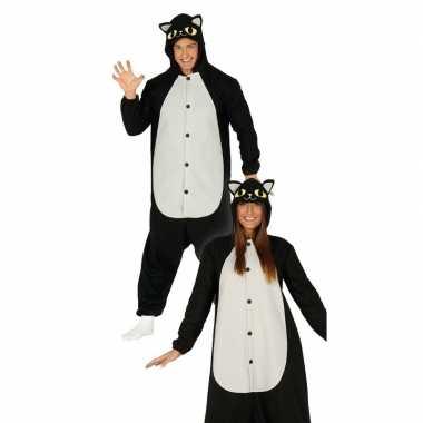 Zwarte kat/poes dieren verkleedkostuum voor heren
