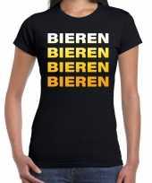 Bieren bieren bieren bieren t-shirt zwart voor dames