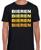 Bieren bieren bieren bieren t-shirt zwart voor heren
