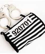 Boeven handtasje met handboeien