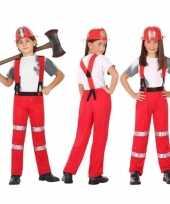 Brandweer kostuum verkleed kostuum voor jongens en meisjes