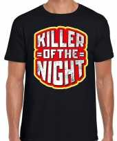 Halloween killer of the night verkleed t-shirt zwart voor heren