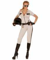 Highway politie beige kostuum voor dames