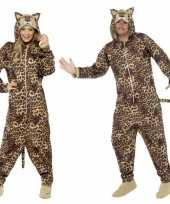 Kostuum luipaard all in one voor volwassenen