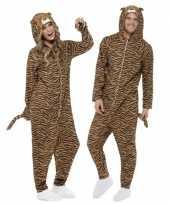 Kostuum tijger all in one voor volwassenen