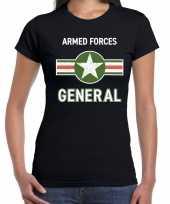 Landmacht armed forces verkleed t-shirt zwart voor dames