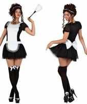 Sexy dienstmeisje verkleed kostuum jurkje voor dames